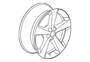 Wheel, Alloy - Volkswagen (1C0-601-025-BA-8Z8)