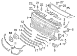 Grille Molding - Mazda (B63B-50-7J1A)