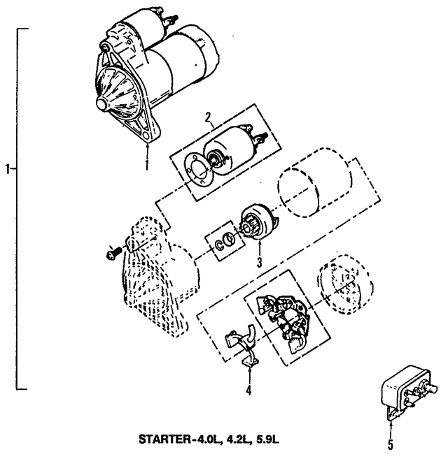 1987 1999 Jeep Starter 56041014ab