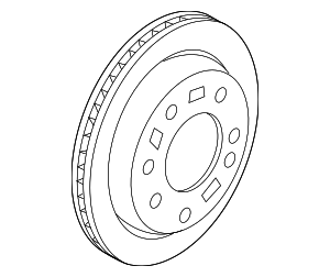 Disc Brake Rotor - Hyundai (58411-D3700)