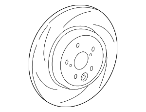 Disc Brake Rotor - Lexus (42432-0W020)