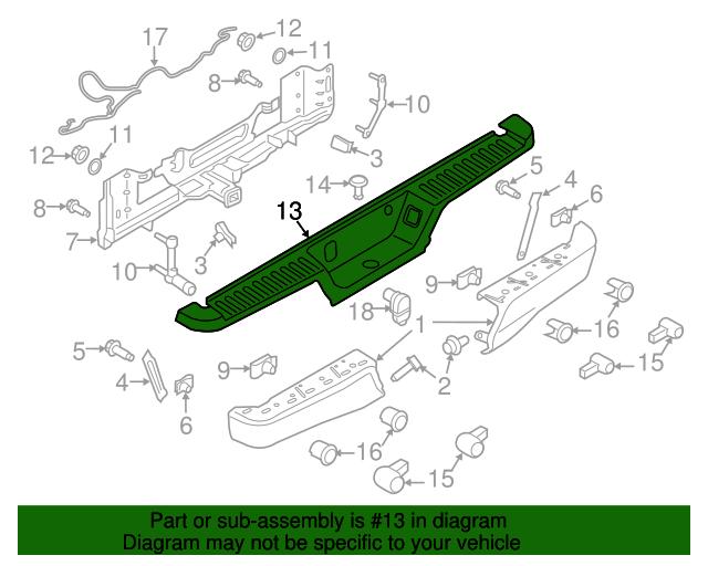 Ford OEM 2015 F-150-bumper Trim-insert FL3Z17B807AA for sale online