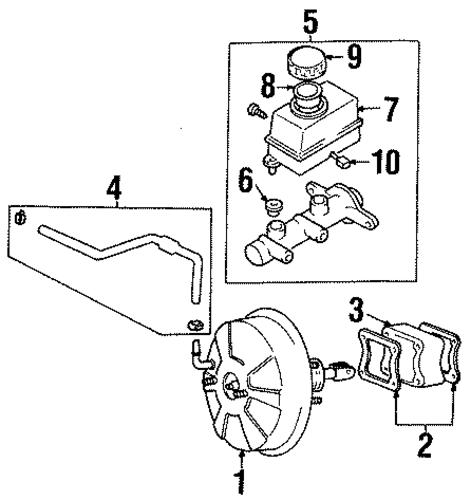 tiburon brakes  hydraulic system parts
