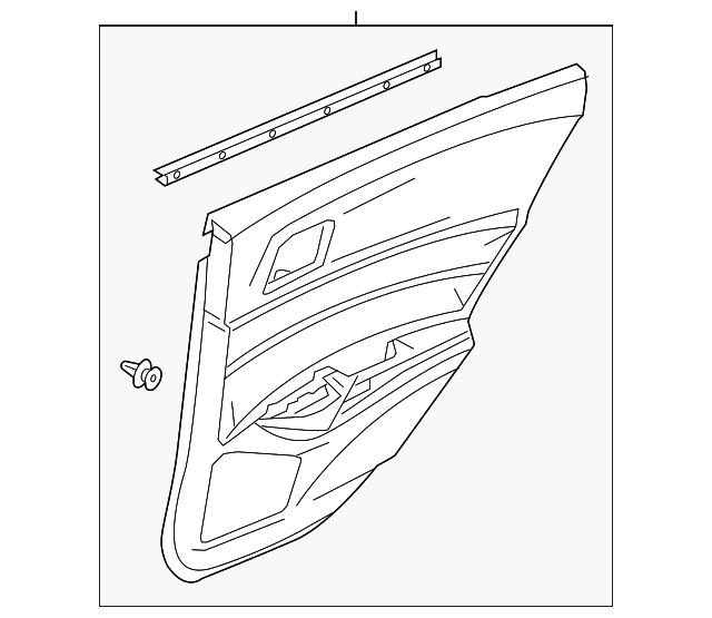 2019-2020 Acura ILX SEDAN Lining, L Rear Door Assembly