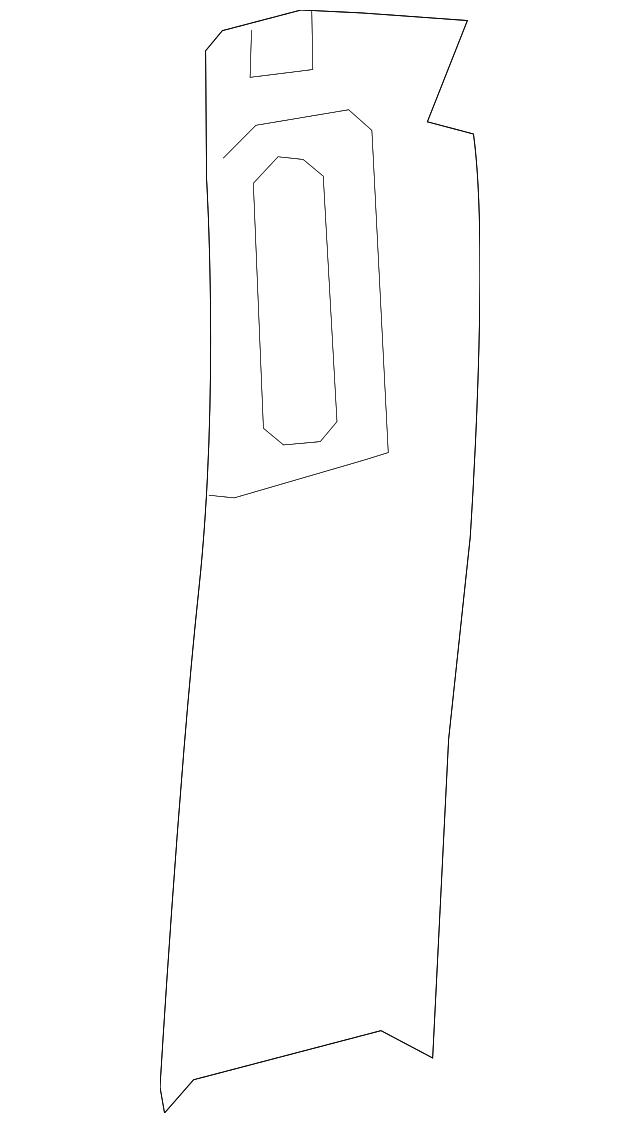 upper center pillar trim