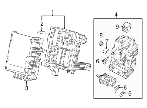 oem 2015 gmc sierra 2500 hd fuse  u0026 relay parts