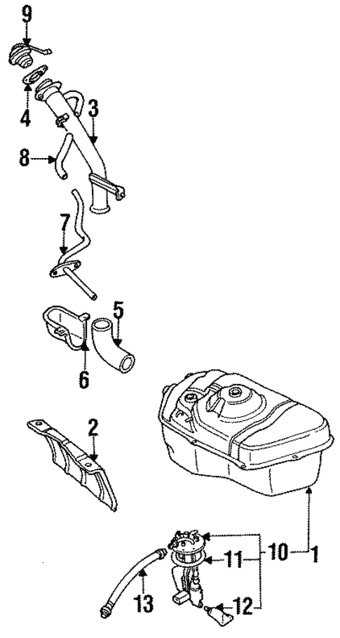 Fuel System Components For 1991 Mitsubishi 3000gt