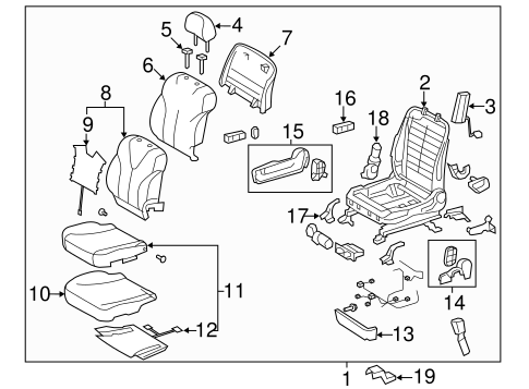 BODY/PASSENGER SEAT COMPONENTS for 2008 Toyota Camry #2