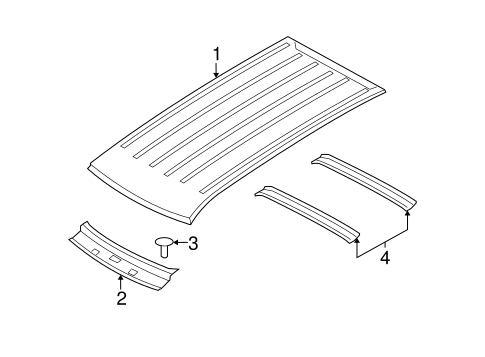 roof  u0026 components for 2007 dodge nitro parts