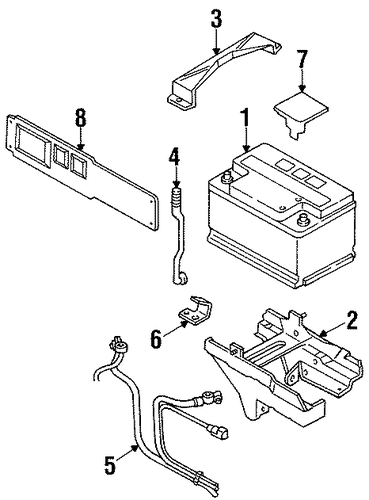 1996 Mercury Cougar Air Conditioner Wiring Diagram likewise 3nyhu So First Time Posting Forum Please further T4469166 99 ford contour hazard flasher unit besides Battery Scat furthermore Horn Location On 99 Ford Explorer. on 99 cougar battery