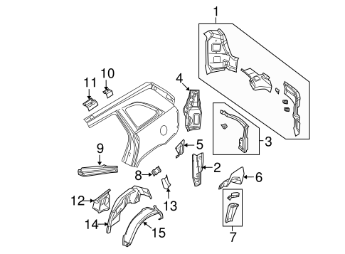 Inner Structure For 2008 Chrysler Pacifica