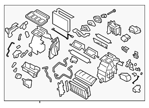 Heater Unit Assembly / VIN Required - Subaru (72110FG081)