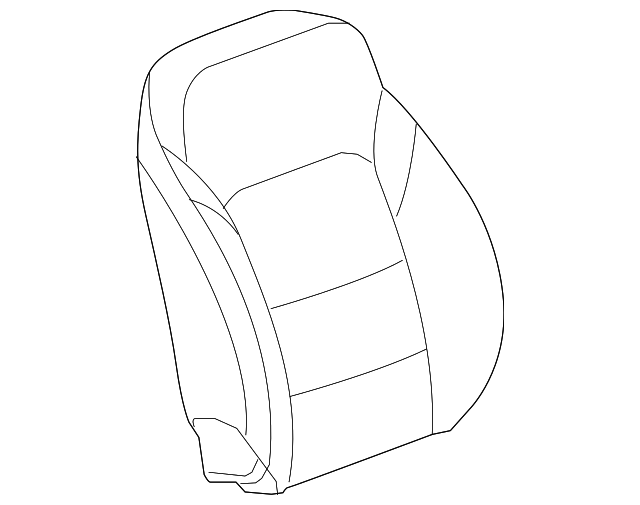 2016 2018 Chevrolet Malibu Seat Back Cover 84120071