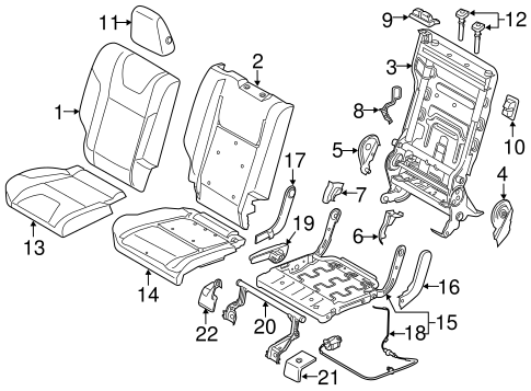 Body/Rear Seat Components for 2013 Ford Escape #2