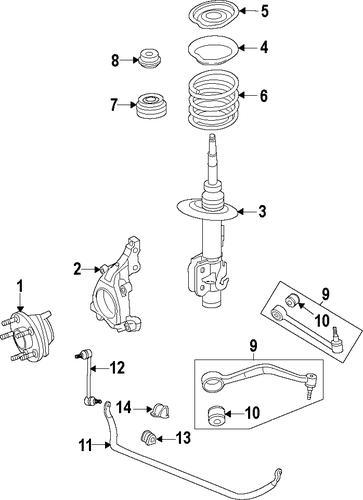 oem 2009 pontiac g8 front suspension parts
