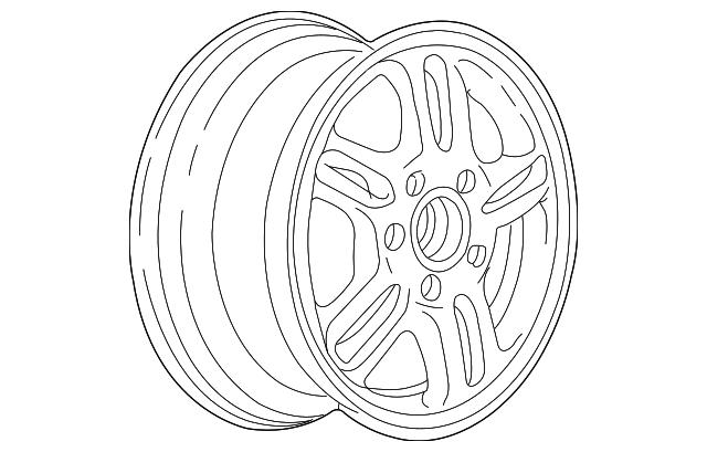2002 2004 Honda Cr V 5 Door Disk Aluminum Wheel 15x6jj Hitachi