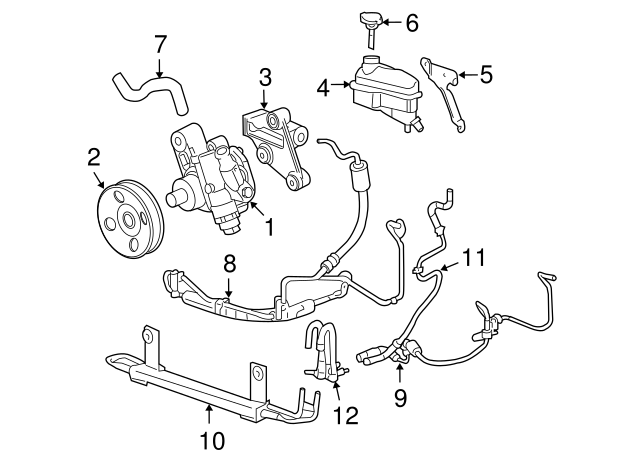 Power Steering Pressure Line Hose Assembly For 2005-2011 Cadillac STS 2006 2007