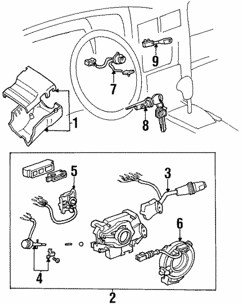 land cruiser door lock wiring diagram 1996 genuine oem switches parts for 1996 toyota land cruiser base  parts for 1996 toyota land cruiser