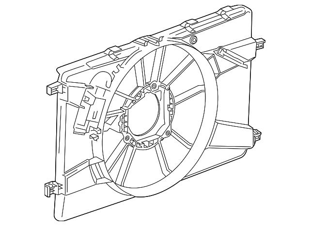 Genuine Gm Fan Shroud 13267631