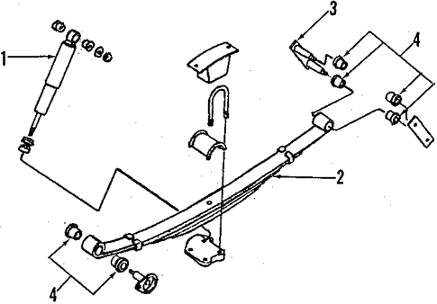 Rear Suspension/Rear Suspension for 1994 Nissan D21 #2