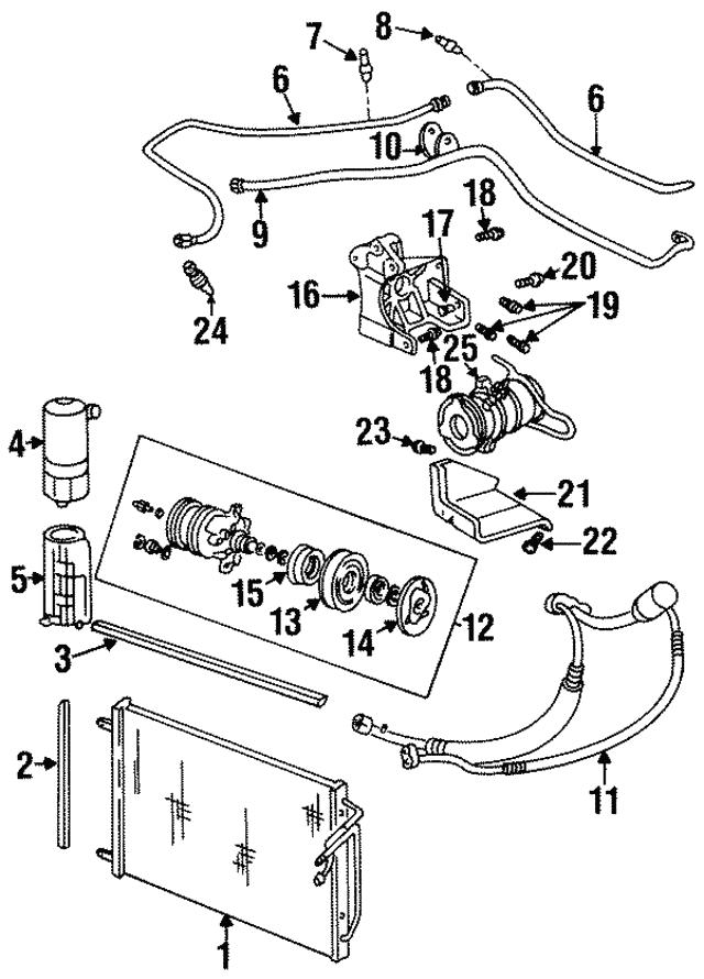 clutch plate & hub assembly - gm (89019049)