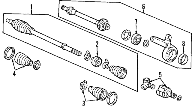 Drive Shaft Assembly, R - Honda (44305-S9A-N00)