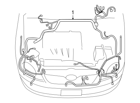 ELECTRICAL/WIRING HARNESS for 2008 Toyota Corolla #1