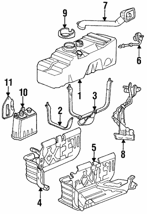 Genuine Oem Fuel System Components Parts For 1996 Mazda B2300 Base