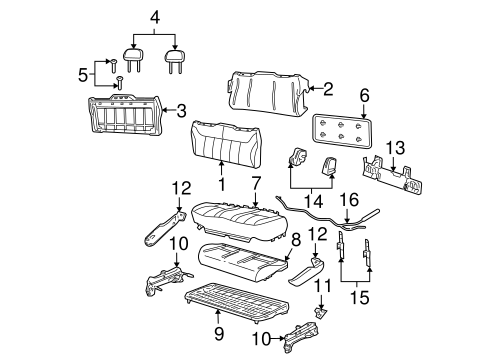 Body/Rear Seat Components for 2004 Ford Freestar #3