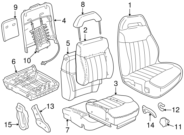 seat cover gm 12476723 gmpartsdirect S10 Seat Brackets