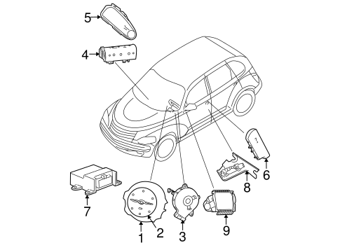 Air Bag Components For 2007 Chrysler Pt Cruiser