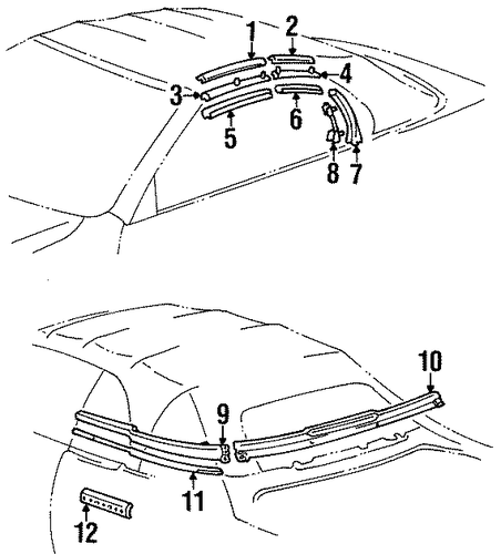 BODY/EXTERIOR TRIM - CONVERTIBLE TOP for 1999 Toyota Celica #1