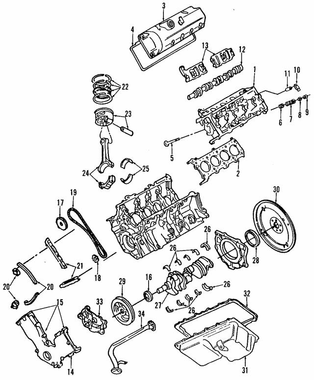 OEM Ford F6AZ-6584-DA Valve Cover Gasket Left NEW
