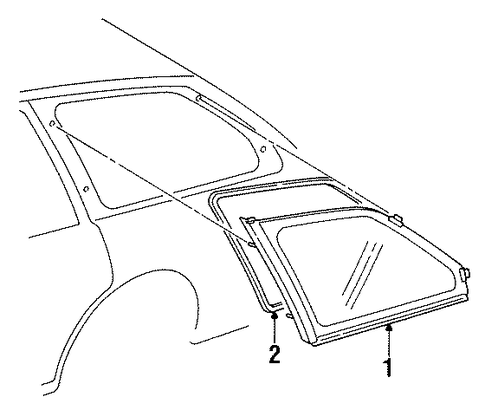 BODY/GLASS & HARDWARE for 1997 Toyota Corolla #1