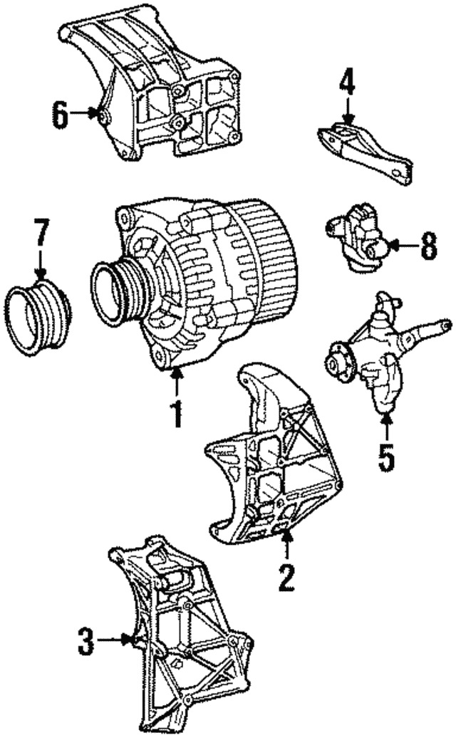 Alternator - Mercedes-Benz (010-154-71-02-80)