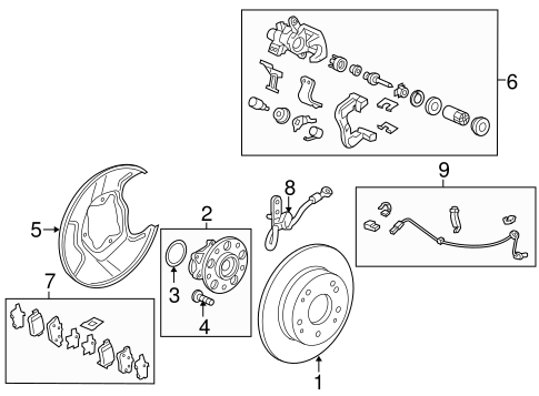 Hose Set, R Rear Brake (Disk)