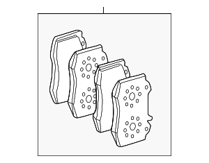 Brake Pads - Mercedes-Benz (008-420-40-20)