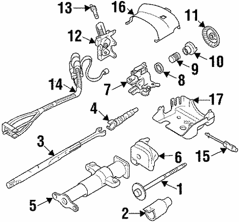 Oem 1999 Chevrolet Suburban K1500 Steering Column Assembly Parts