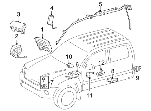 ELECTRICAL/AIR BAG COMPONENTS for 2015 Toyota Tacoma #1