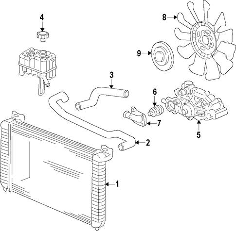oem cooling system for 2011 chevrolet silverado 2500 hd. Black Bedroom Furniture Sets. Home Design Ideas