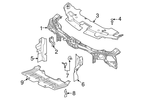 Radiator Support For 2014 Ford Mustang