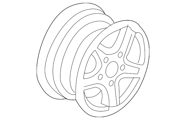 Disk Aluminum Wheel 17x8jj Tpms Enkei