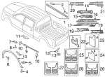 Genuine Ford Upper Molding FL3Z-84291A40-AA