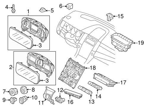 Electrical/Headlamp Components for 2015 Ford Taurus #3