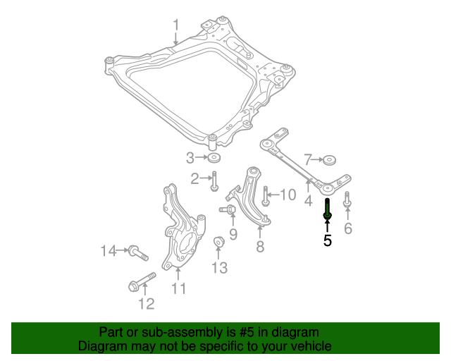 Engine Cradle Mount Bolt Nissan 54459 En11b Courtesy