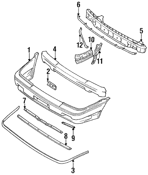 Front Bumper For 1992 Toyota Corolla