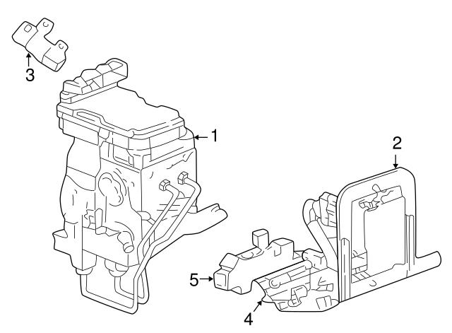 1999 2001 Dodge Control Module Bracket 5013049aa