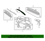 Arm, Windshield Wiper (Driver Side) - Honda (76600-SDN-A11)
