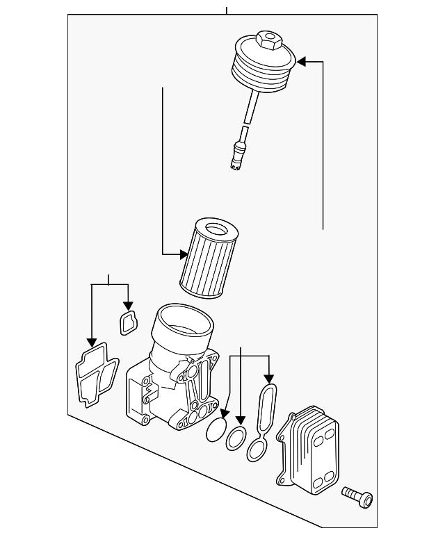 Oil Filter Housing Volkswagen 03l 115 389 H Quirk Parts