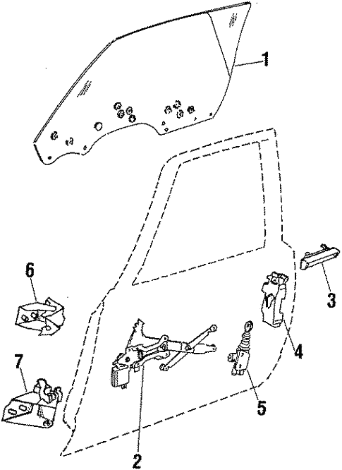 Glass - Door for 1984 Chevrolet Monte Carlo | GMPartsDirect com